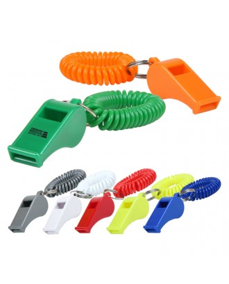 Whistle With Coil Wristband