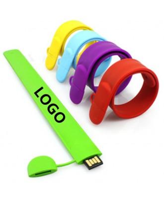 4GB Silicone USB Flash Drive Slap Bracelet