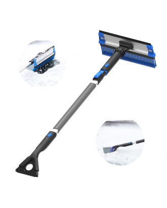 Extendable Snow Brush with Squeegee & Ice Scraper