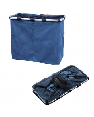 2 Section Hamper Washing Storage Basket Bag