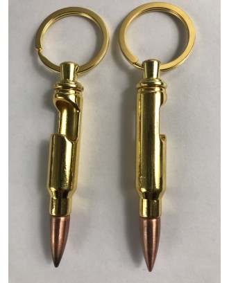Bullet Shaped Bottle Opener Keychain