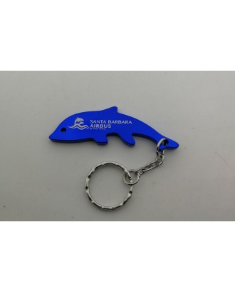 Dolphin Shaped Bottle Opener With Keychain
