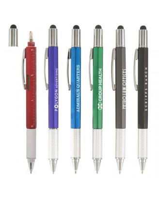 6 In 1 Tool Pen With Stylus