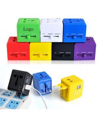 2 USB Universal Travel Plug Adapter
