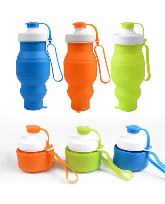 17 OZ Collapsible Silicone Water Bottle