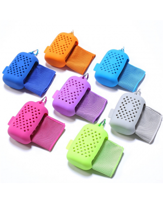 Cooling Towel With Mini Silicone Case